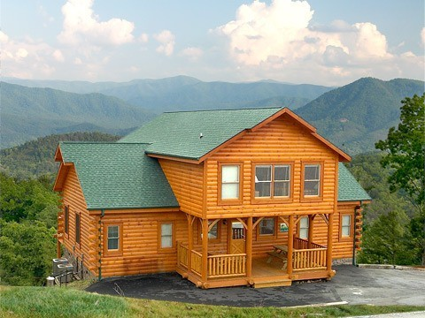 Clear view 4 bedrooms cabin hearthside at the preserve for Premier smoky mountain cabin rentals