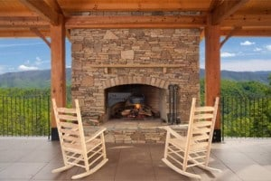 Fireplace at the Pavilion at The Preserve