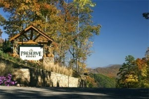 Fall colors at the Preserve Resort in the Smoky Mountains.