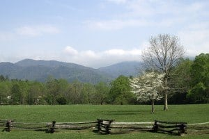 Beautiful weather in the Smokies in the springtime