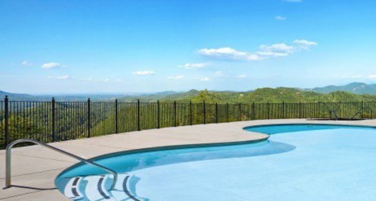 The beautiful swimming pool at the Preserve Resort.