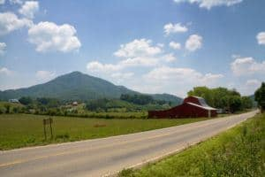 A scenic country road in Wears Valley TN.