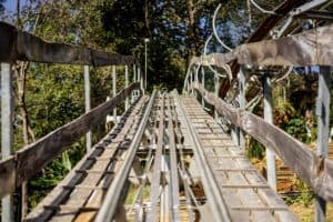 Beginning of an Alpine Coaster ride in the Smoky Mountains