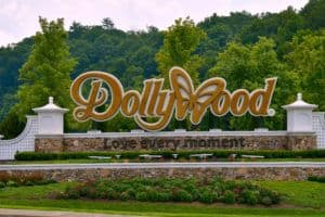 Dollywood Entrance sign Pigeon Forge Tn
