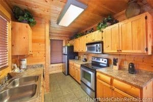 Kitchen in 1 bedroom cabin in Wears Valley Tn