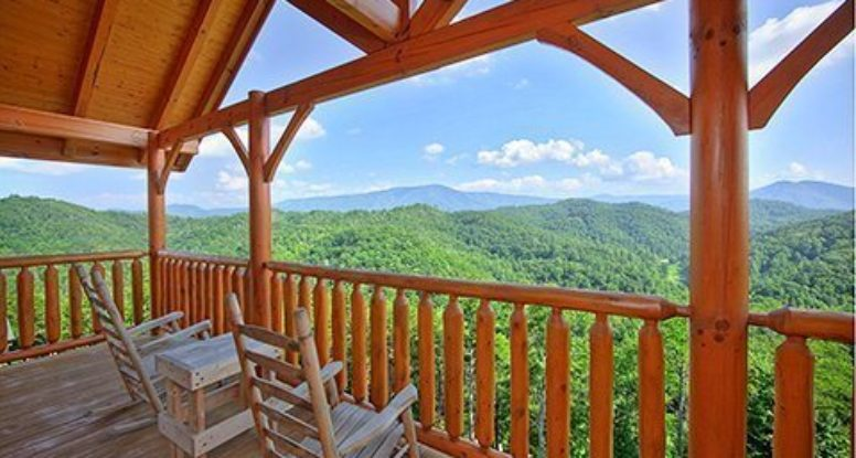 smoky mountain high cabin porch view
