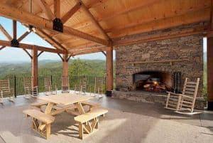 open air pavilion at preserve resort