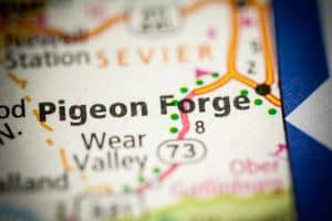 pigeon forge on a map
