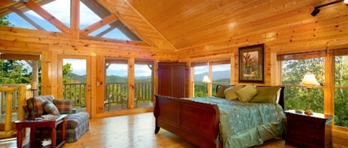 bedroom in smoky mountain cabin
