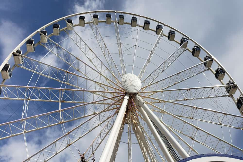 the great smoky mountain wheel the island pigeon forge